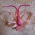 Handmade Butterfly Alligator clip - Pink
