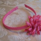 Hard Korker Headband - hot pink hearts