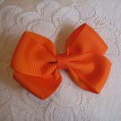 Handmade Bow Alligator Clip - Orange