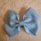 Handmade Bow Alligator Clip - light blue