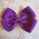 Handmade Bow Alligator Clip - purple