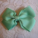 Handmade Bow Alligator Clip - lime green