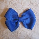 Handmade Bow Alligator Clip - blue