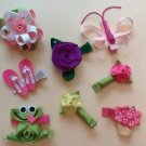 Summertime Fun Hair Clips - Set of 8