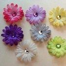 2 inch mini daisy Hair Clips - Set of 7