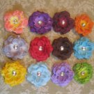 3 inch small rose Hair Clips - Set of 12