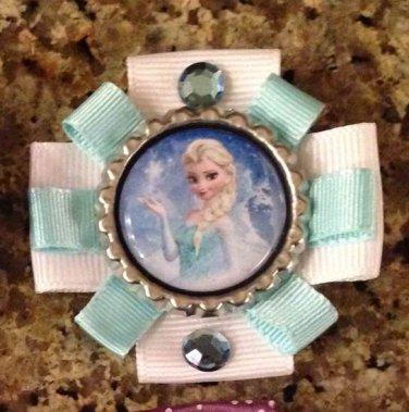 Disney Princess Frozen Bottle Cap Hair Clip- Elsa