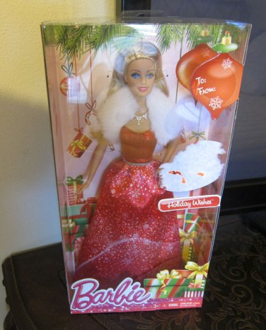 MATTEL BARBIE DOLL 2014 HOLIDAY WISHES CHRISTMAS NRFB