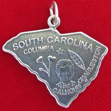 925 STERLING SILVER SOUTH CAROLINA STATE CHARM