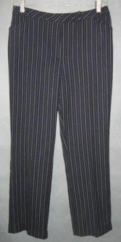 NINE & COMPANY navy herringbone pinstripe PANTS size 4
