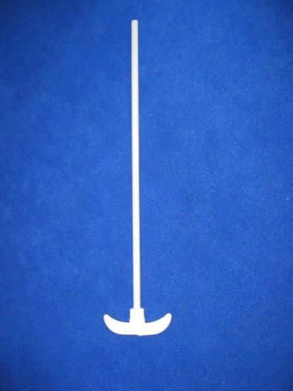 PTFE stirrer: 90mm blade, 7mm/450 shaft