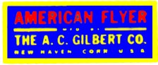 AMERICAN FLYER TRAINS GILBERT ACCESSORY STICKER