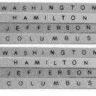 960,1,2,3  PASSENGER NAME PLATE SET for GILBERT AMERICAN FLYER TRAINS