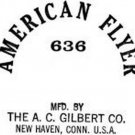 636 REEL CAR STICKERS for AMERICAN FLYER TRAIN GILBERT