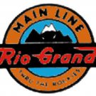 RIO GRANDE F9 NOSE STICKER for AMERICAN FLYER TRAINS GILBERT