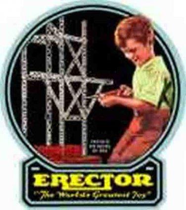 BLACK BACKGROUND BOX LABEL for GILBERT ERECTOR SET