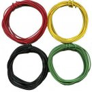 40'- 10' ea. Black GREEN YELLOW RED 22 Gauge Stranded Wire HO Scale Gauge Trains