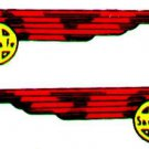 SANTA FE INDIAN HEAD WATER SETTING DECAL for American Flyer S Gauge Scale Trains