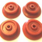 4 RED PLASTIC WHEELS FRANKLIN WASHINGTON for American Flyer STEAM ENGINE
