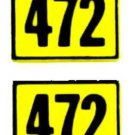 472 ALCO DIESEL SANTA FE WATER SETTING DECAL for American Flyer S Gauge Trains