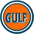 GULF SINGLE DOME TANKER SELF ADHESIVE STICKER for American Flyer S Gauge Trains