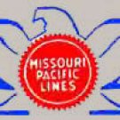 MISSOURI PACIFIC DIESEL NOSE ADHESIVE STICKER for American Flyer S Gauge Trains