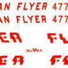 SILVER FLASH DIESEL ADHESIVE STICKER SET for American Flyer S Gauge Scale Trains