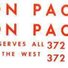 UNION PACIFIC 372 DIESEL WATER SETTING DECAL SET for Made By American Flyer