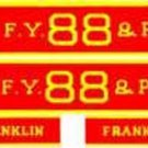 FRANKLIN ENGINE TENDER ADHESIVE BACK SET HO for GILBERT HO/AMERICAN FLYER TRAINS