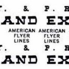 FRANKLIN #30 PASSENGER SELF ADHESIVE STICKERS for American Flyer