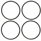 """4 TRACTION RUBBER TIRES for HO Gauge Trains 1/2""""dia .050 Width /13mm x 1.5mm"""
