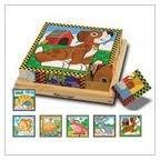 Wooden Pets Cube Puzzle