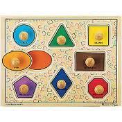 Geometric Shapes Knob Puzzle