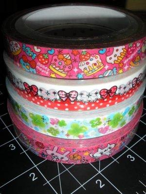 Kawaii Deco Tape - Value 4-Pack #2