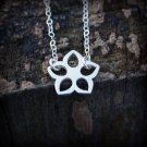 Delicate Silver Flower Blossom Necklace