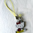 Hello Kitty Charm (Yellow Pencil + Crystal)
