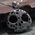 Charm Necklace - Antique Silver Decorative Skull Pendant (s)