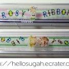 Vintage Japanese Shoujo Rosy Ribbon Pencil Boxes