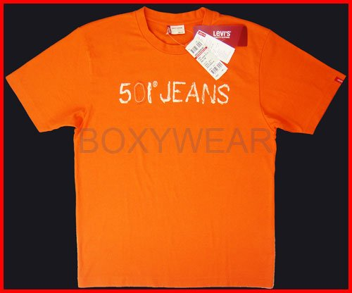 Brand New Levi's Men's Orange Short Sleeve T-Shirt Size L
