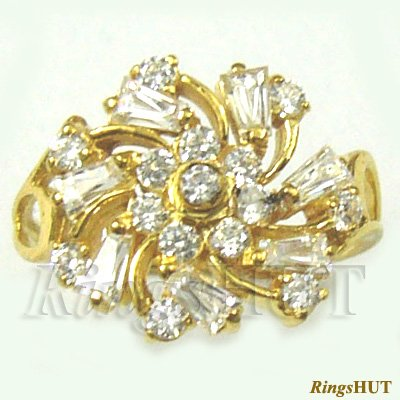 0.87 Crt. Diamond Studded Gold Ring, Diamond Ring, Ladies Ring, Wedding Ring