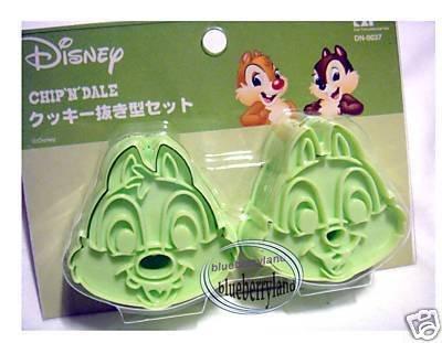 JAPAN Disney Chip & Dale Cookie Stamp Cutter mold food mould