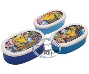 Japan Pokemon Bento Lunch Box Food Container case 3pc set