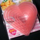 6p Valentine Heart Pastry Cutter mold biscuit set