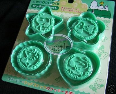 Peanuts Snoopy Cookie Stamp Cutters Mold Set mould kit