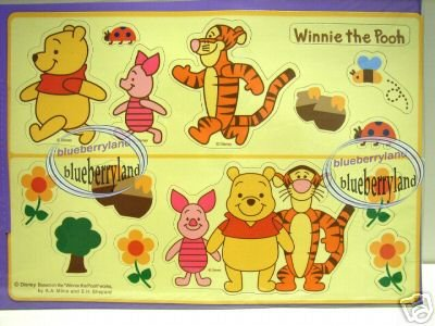 Disney Winnie the Pooh Magnet Sheet charm kitchen fridge