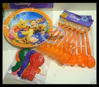 Disney Party Pack Winnie the Pooh & Friends Kid - 28 items