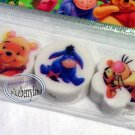 3 Pcs Disney Pooh Eeyore Eraser rubber set stationery