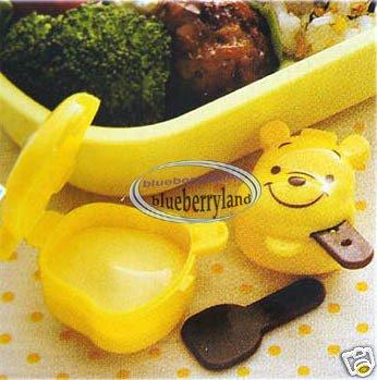 Disney Winnie The Pooh Sauce Dressing Case 2 Pcs lunch box