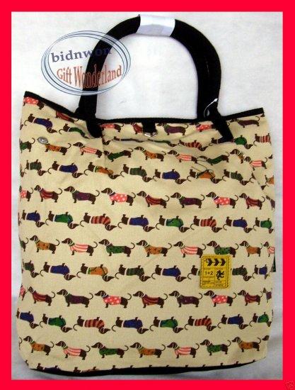 Dachshund Dog Canvas BAG Handbag Purse Dachsie Doxie
