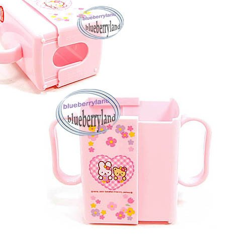Japan Sanrio Hello Kitty Kid Baby milk juice Drinking box Holder